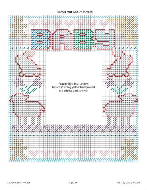 Artist Canvas Pattern | baby s first frame 3 4 plastic canvas picture frame