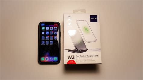 best iphone 8 x xs xs max budget dual coil fast wireless charger rock w3 unboxing