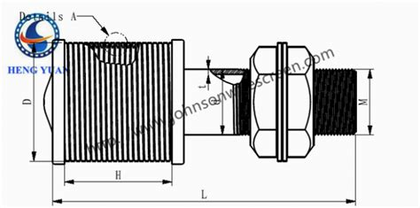 Johnson Screen Pipa Saringan large diameter water screen nozzle dengan pipa screen