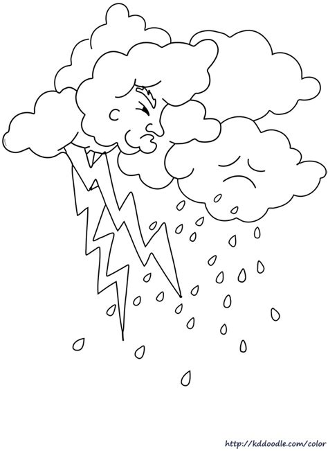 Free Coloring Pages Of Weather Color Pages Weather Coloring Page