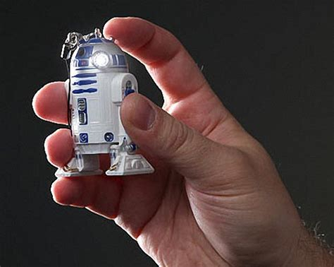 Wars R2 D2 Powerbank wars r2 d2 led flashlight keychain gadgetsin