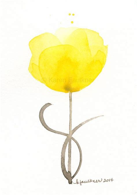 buttercup tattoo buttercup original watercolor painting green