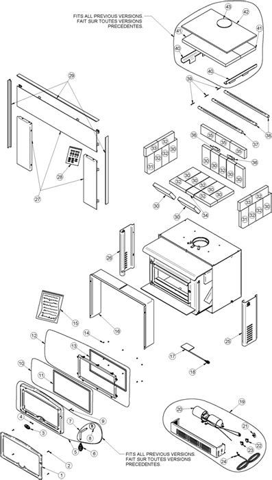 Gas Fireplace Insert Replacement Parts by Osburn 2400 Parts