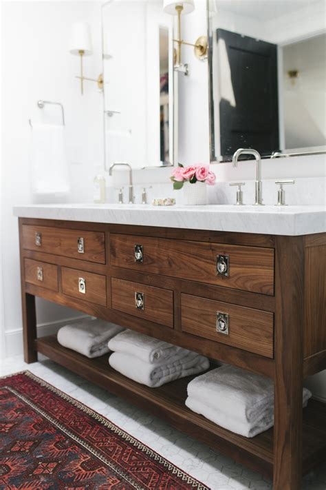 Bathroom Cabinets Wood Silver Hardware Roundup Wood Vanity Nature And Sinks