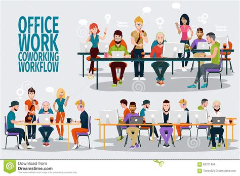 concept work coworking center business meeting team working people