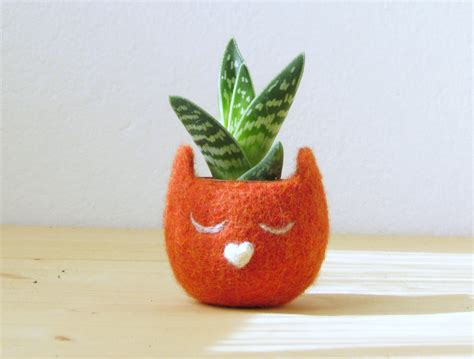 Personalized Planter by Personalized Planter Cat Planter Small Succulent Pot