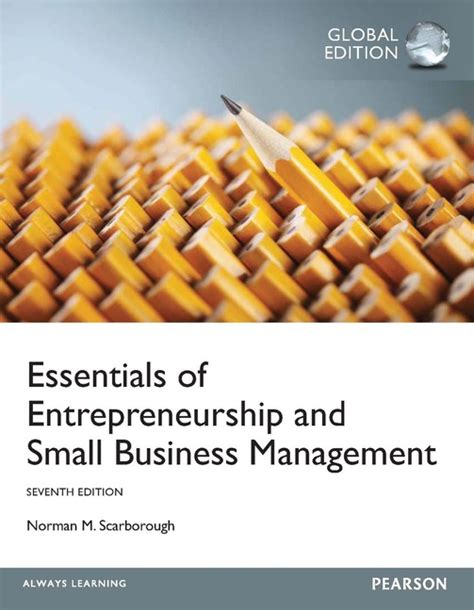 Essentials Of Entrepreneurship And Small Business Management pearson education essentials of entrepreneurship and