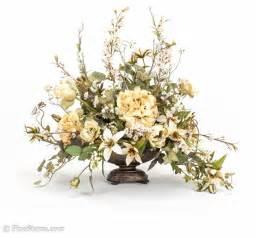 Artificial Floral Arrangements Cream Silk Floral Arrangement Traditional Artificial