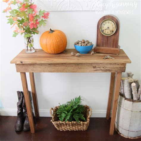 How To Build A Foyer Table how to build a simple entryway table not just a