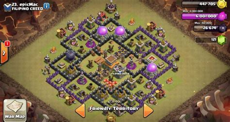 town hall 8 base layout december 2016 clash of clans town hall 8 anti hog base