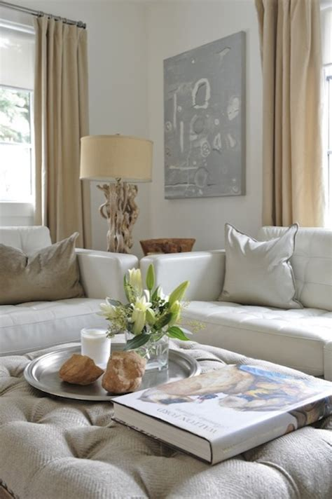 Grey And White Home Decor by Linen Sofas Design Ideas