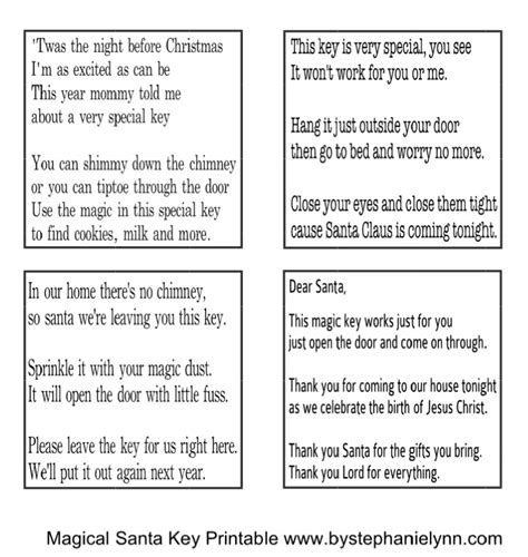 printable santa key template magical santa keys christmas house keys for santa