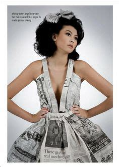 How To Make A Paper Dress To Wear - 1000 ideas about newspaper dress on paper