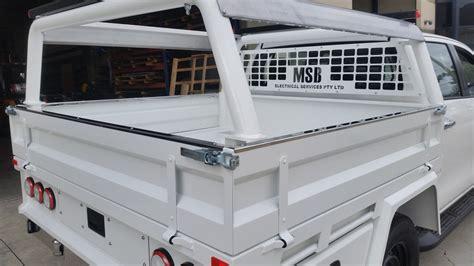 ute headboard 2016 toyota hilux duel cab luke bodyworks custom tray