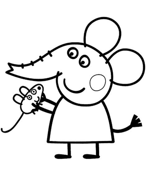 spider pig coloring page peppa pig dr elephant to print or download for free