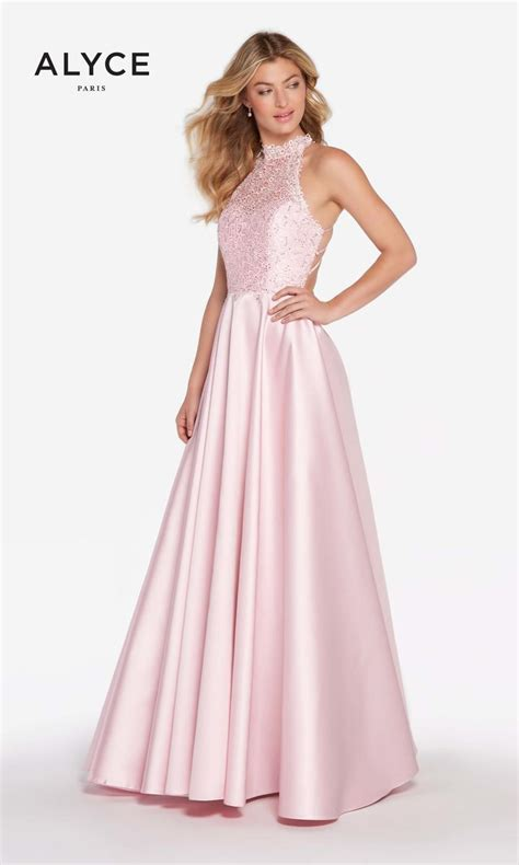 alyce prom 2016 dresses newyorkdress alyce paris 60060 lace and mikado prom dress french novelty