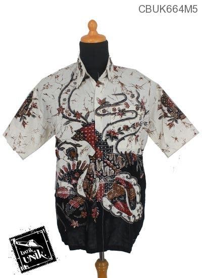 Kemeja Batik Panjang Motif Kembang Ceplok Runcing Kp59m3 baju batik kemeja motif kembang ceplok runcing pastel kemeja pendek murah batikunik