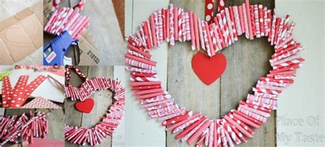 valentines day low cost ideas title and wm decorations how to make diy paper heart shaped wreath how to