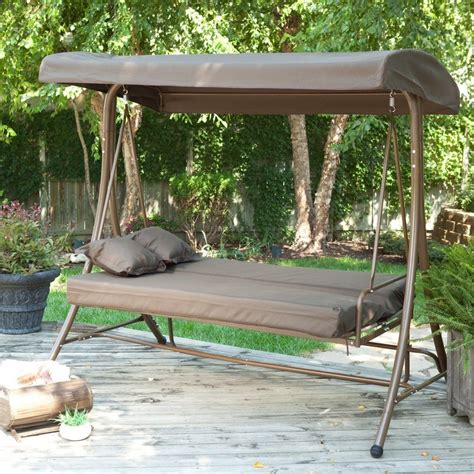 Swing Bed With Canopy Outdoor Canopy Swing Bed Deck Design And Ideas