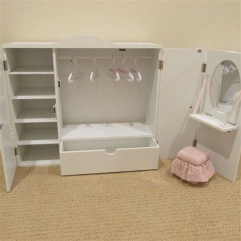 18 doll armoire wardrobe our generation wardrobe vanity closet armoire trunk for