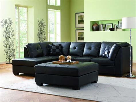 modern leather sofa sectional 3 black contemporary leather sofa set with discount price