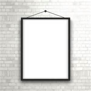 Hang Pictures On Wall blank picture frame hanging on a brick wall vector free download