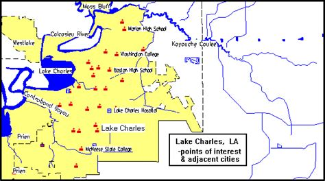 louisiana points of interest map lake charles consolidated plan executive summary