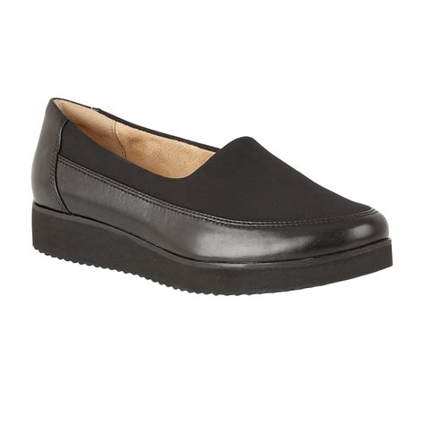 naturalizer shoes neoma black leather slip on pumps