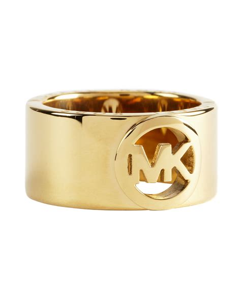 michael kors fulton ring in gold lyst