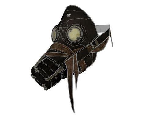 Gas Mask Papercraft - dishonored papercraftsquare free papercraft