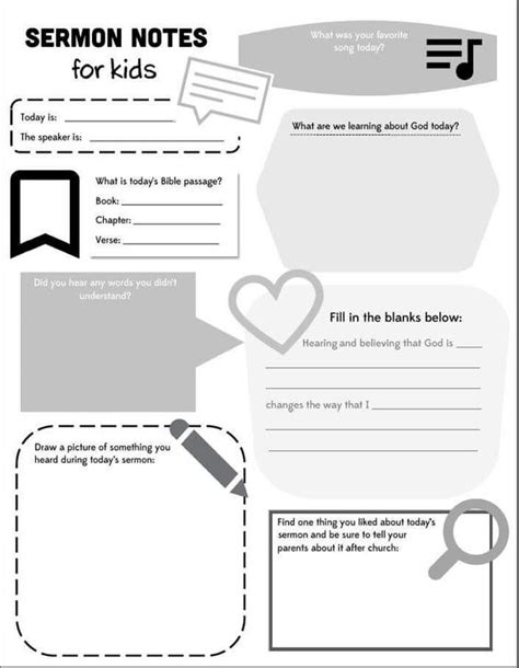 sermon notes template the world s catalog of ideas