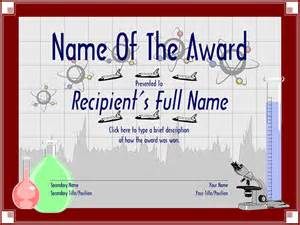 Science Award Certificate Template by 30 Free Printable Certificate Templates To