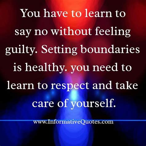 Feeling Guilty No More by Always Say No Without Feeling Guilty Informative Quotes