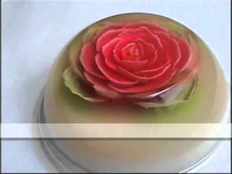 rosas en 3d gelatina floral 3d rosa roja youtube