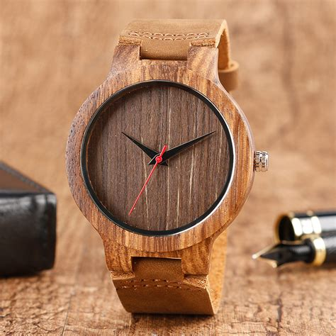 Bamboo Handmade - top gift wood watches s unique 100 nature wooden