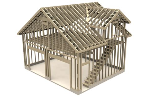 Architectural Model Kits by Two Story Garage 24 X 20 Step Iges Solidworks