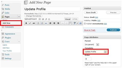 php profile page template create custom update profile page for users 4