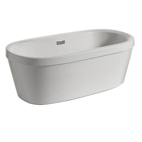waste and overflow for bathtub delta synergy 5 ft acrylic freestanding bathtub with integrated waste and overflow in