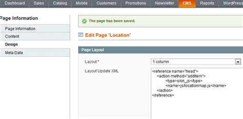 magento layout update xml add js php how to add css when creating new page in magento