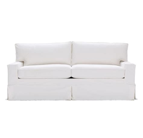 best white slipcovered sofa queen sleeper sofa slipcover catosfera net