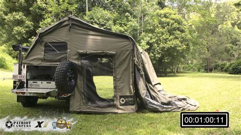 patriot x1 patriot cers x1 tent and awning setup