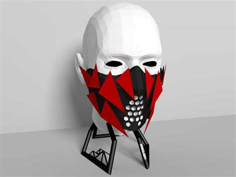 Mask Papercraft - 4th unknown size mask free papercraft template