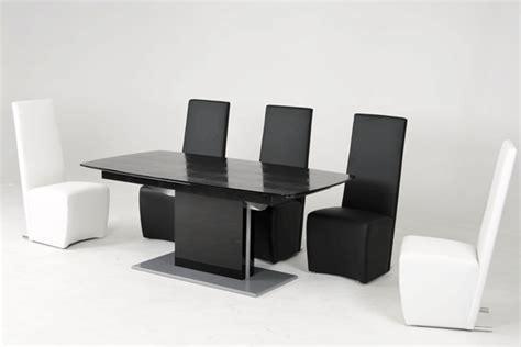 Black Gloss Dining Tables Dreamfurniture Armani 818 Black High Gloss Dining Table With White Extension