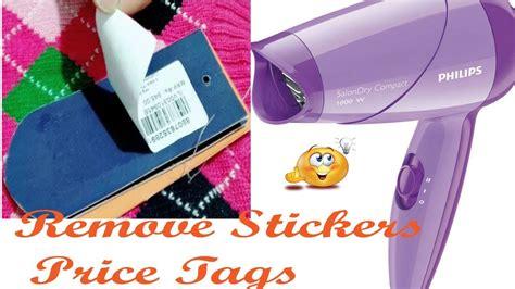 Remove Price Stickers