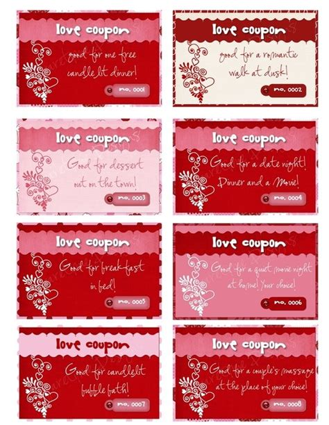 pinterest free printable love coupons printable personalized love coupons by sparetimeprints on