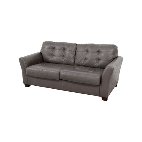 66 Off Ashley Furniture Ashley Furniture Gray Tufted Used Tufted Sofa