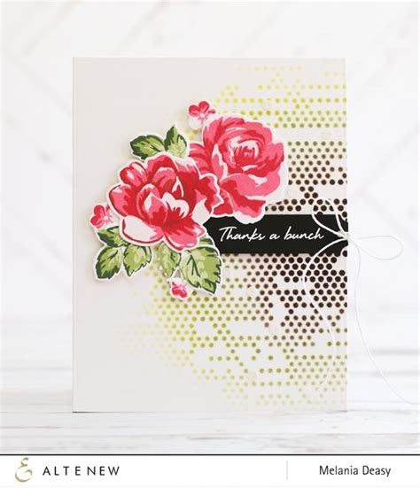 Set Deasy altenew ink pads release hop thank you card roses dots bow melania deasy send a