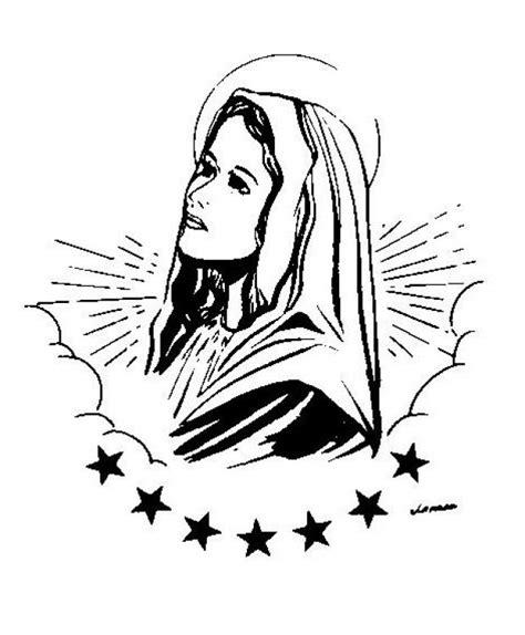 imagenes virgen maria para dibujar de la virgen maria para dibujar imagui