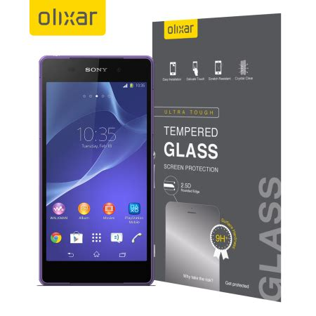 Tempered Glass Sony Xperia Z2 Diskon olixar sony xperia z2 tempered glass screen protector