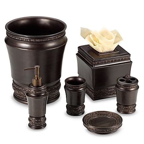 Rubbed Bronze Bathroom Accessories Buy Palazzo Rubbed Bronze Boutique Tissue Holder From Bed Bath Beyond